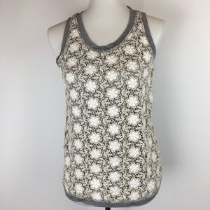 J. Crew Womens Tank Top Crocheted Lace Front A2188
